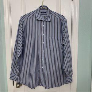 Burberry London Men's Stripe Dress Shirt